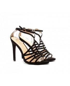 Sandale Elegante cu Toc Meina - Negre