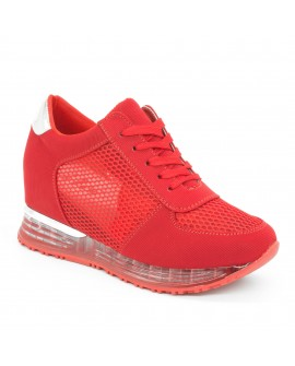 Pantofi Sport Dama cu Platforma ''Elisabeta'' - Rosii