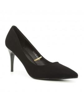 Pantofi tip Stiletto Dama cu Toc ''Evelyn'' - Negri