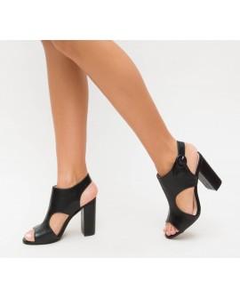 Sandale Dama cu Toc ''Eda'' - Negre