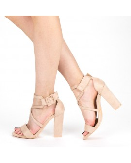Sandale Dama cu Toc ''Fathia'' - Pink