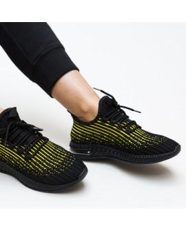 Pantofi Sport Dama Jennifer  - Galben/Negru