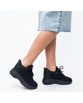 Pantofi Sport Dama,  Jillao - Negri cu Platforma