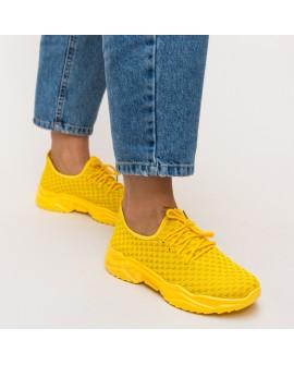 Pantofi Sport Dama Kabecka  - Galbeni
