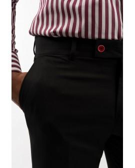 Pantaloni Office Slim Fit Barbati - Negri