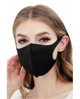 Masca de Protectie Reutilizabila din burete, ambalata individual, Neagra