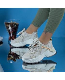 Pantofi Sport Dama, Larisa , Beige