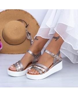 Sandale Dama cu Platforma ,  Lanes  - Guncolor