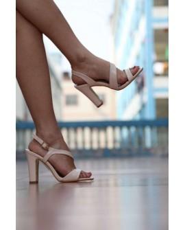 Sandale cu Toc Osho - Nude