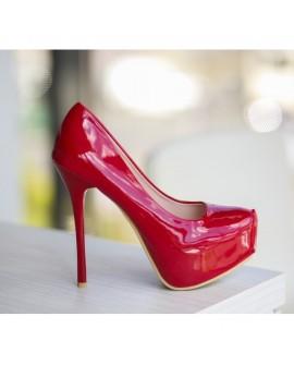 Pantofi Naty Rosii