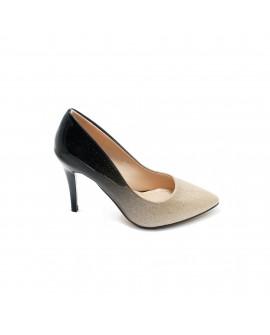 Pantofi Dama Degrade - Negru/Bej