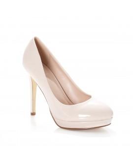 Pantofi Dama cu Toc Aurica - Bej(Nude)