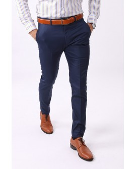 Pantaloni Office Slim Fit Barbati - Bleumarin