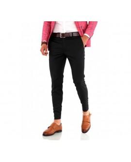 Pantaloni Office Slim Fit Barbati ''J19'' - Negri